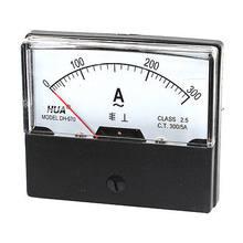 DH-670 Quadrante Pannello Tester di Corrente Ampere Meter Analogico AC 0-300A 70x60mm