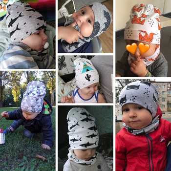 Baby Boy's Printed Cotton Hat 4