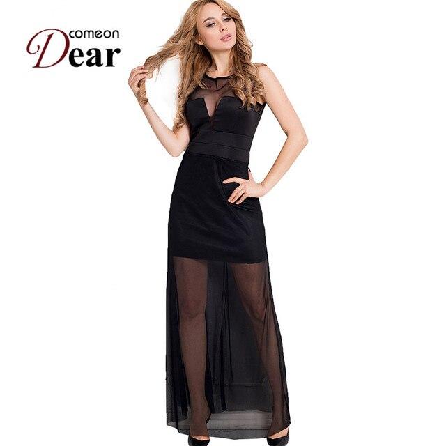 Floor Length Sheer Dress