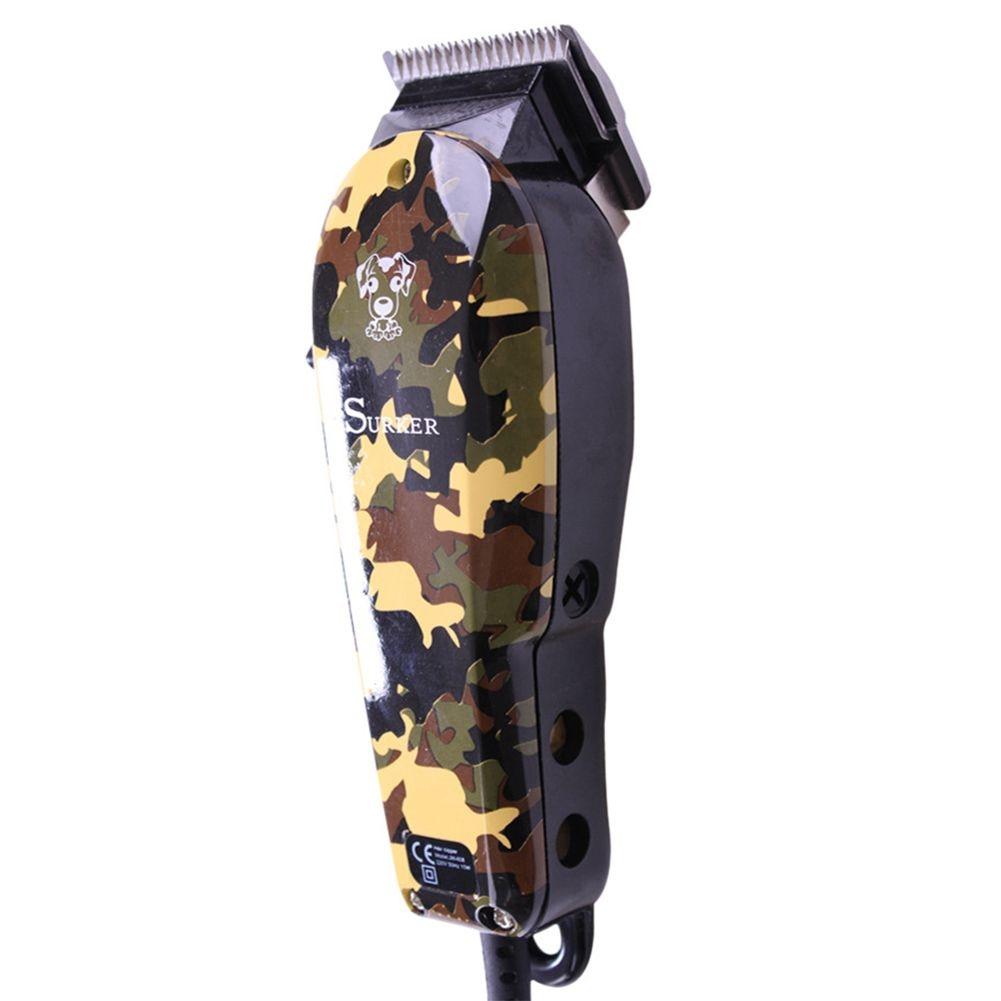 SURKER JM-808 ProfESSional Electric Pet Hair Clipper Dog Shaver Low Noise Hair Clipper with EU Plug цена