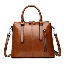 Fashion Top-handle Bags PU Leather Luxury Handbags Women Fam