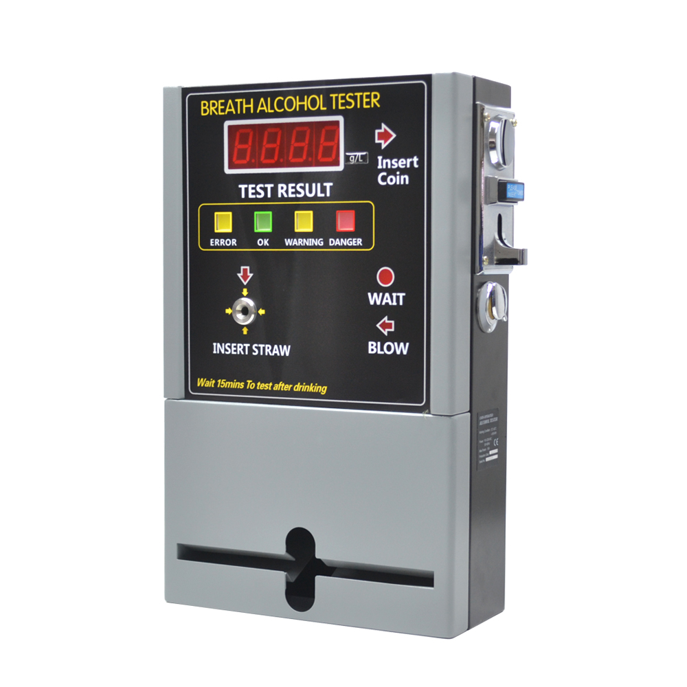 Profesional Koin Dioperasikan Alkohol Tester Breathalyzer Mesin 2pc Sikat Kawat Baja Untuk Mini Grinder Vertikal High Quality Bar Restoran Hotel Di Rusia At 819