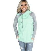 S 3XL Oversized Hood Pullover Hoodie Sweatshirt Female Patchwork Casual Hoodies Women Long Sleeve Autumn Winter