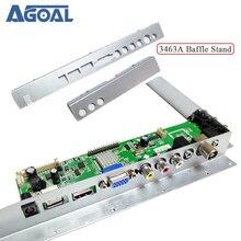 Para 3663 3463a lcd led tv placa de motorista defletor ferro metal preto pvc defletor plástico suporte para placa controlador lcd v59a8