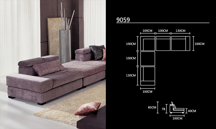 Free Shipping Fabric Furniture New Design Living Room L Shaped With Washable Corner Sofa Set Ottoman And Tea Table In Sofas From