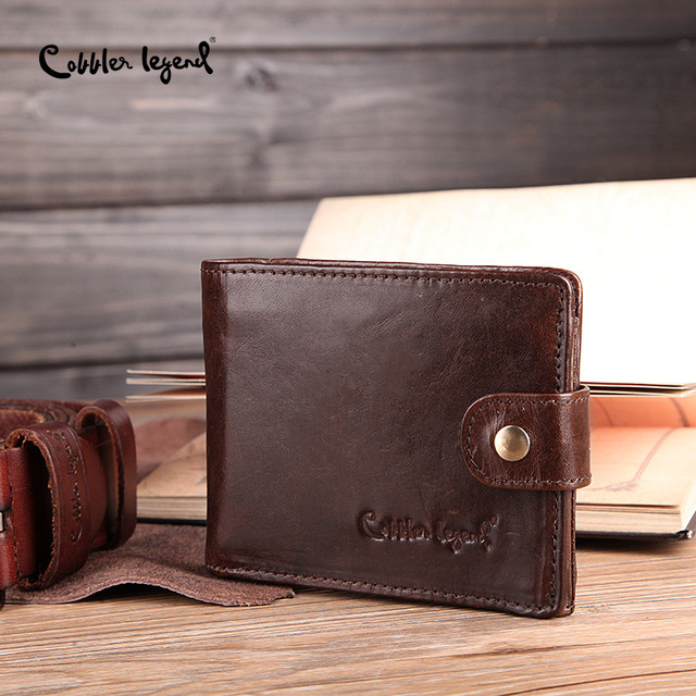 Cobbler Legend Real Cowhide Leather Bifold Clutch 2