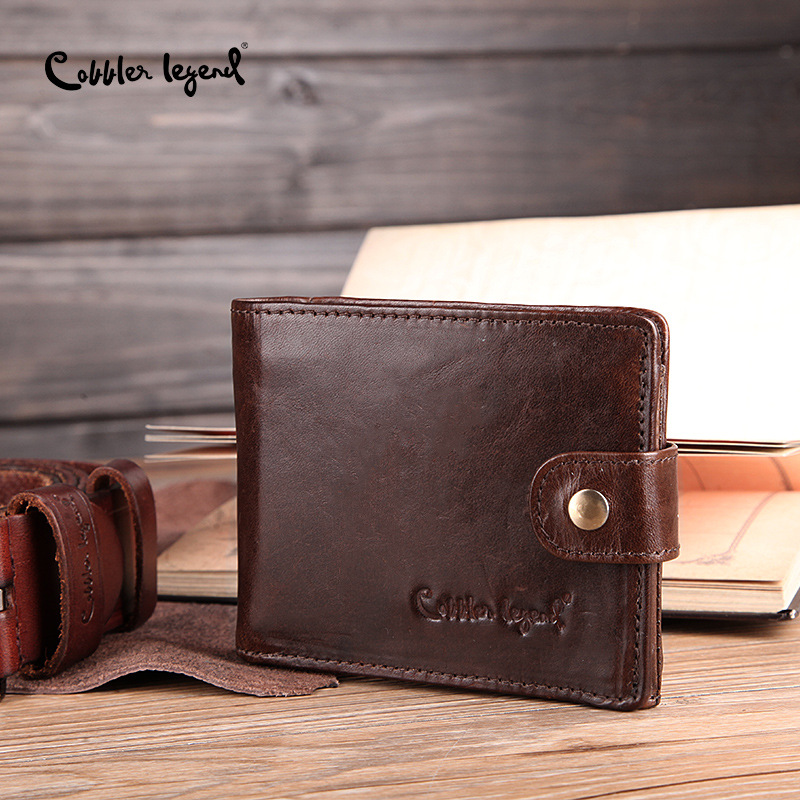Cobbler Legend Real Cowhide Leather Men's Short Wallets Men's Wallets