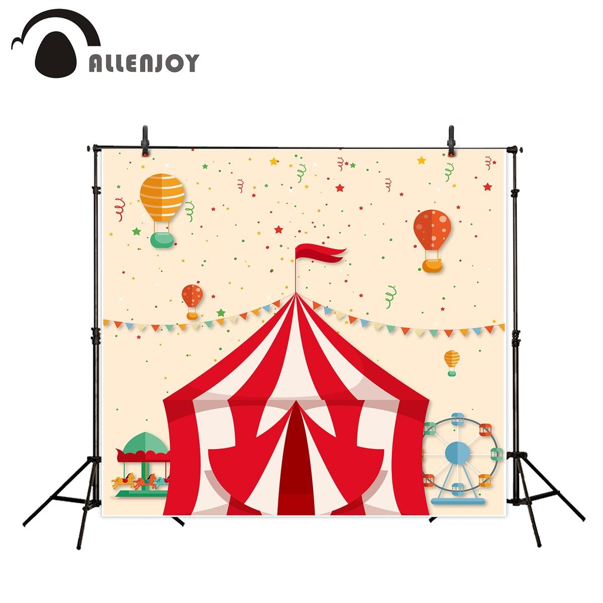 Allenjoy photography theme background amusement park Circus Carousel Balloon festival photographic camera backdrop vinyl photos 5feet 6 5feet background snow housing balloon photography backdropsvinyl photography backdrop 3447 lk
