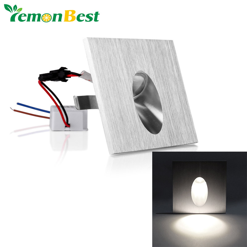 led wall light 1w square led recessed porch pathway step stair light wall lamp basement bulb basement stairway lighting