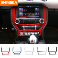 SHINEKA Newest ABS GPS DVD Video Panel Frame Dashboard Trim Interior Accessories for Ford Mustang 2015+