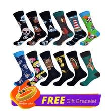 LIONZONE 12Pairs/Lot New Brand Men Dress Socks 60 Colors Dozen Pack Designer Happy Socks Funny StreetWear Wedding Gift