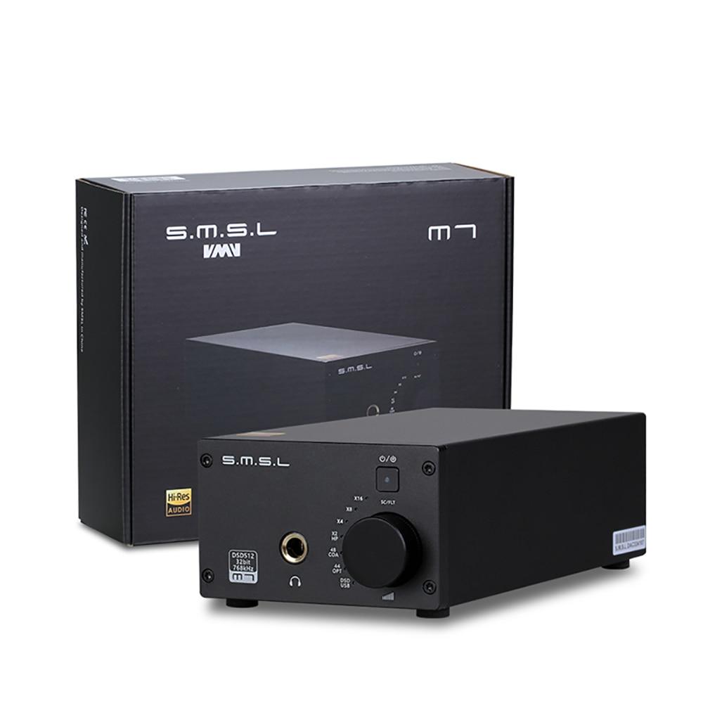 2017 Newest SMSL M7 AK4452 x2 32Bit/768KHz DSD512 Hifi Audio USB DAC with Headphone Amplifier AMP new xduoo xd 05 portable audio high performance portable dac headphone amp 32bit 384khz native dsd decoding with oled display