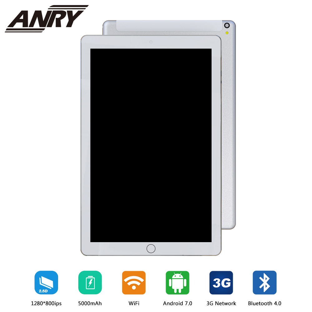 ANRY 10 inch Original Design 3G Phone Call Android 7.0 Quad Core 4G+32G Android Tablet pc WiFi Bluetooth GPS IPS Tablets 10.1ANRY 10 inch Original Design 3G Phone Call Android 7.0 Quad Core 4G+32G Android Tablet pc WiFi Bluetooth GPS IPS Tablets 10.1