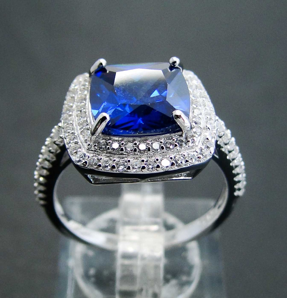 Tanzanite 925 Tanzanite: Wedding Jewelry Tanzanite Ring 925 Silver Rings Round