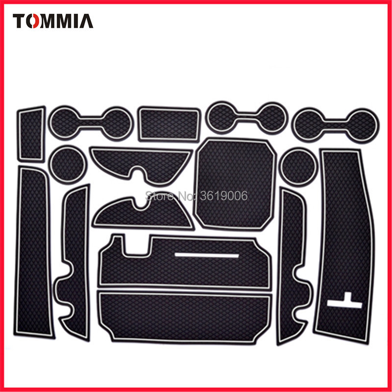 TOMMIA Non-slip Door Groove Mats Gate Slot Mat Cup Pad For Toyota Highlander 2015-2018 ...