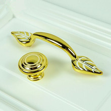 3″ Modern Fashion Kitchen cabinet handles gold drawer Pull gold white dresser cupboard furniture door handles knobs 76mm brass