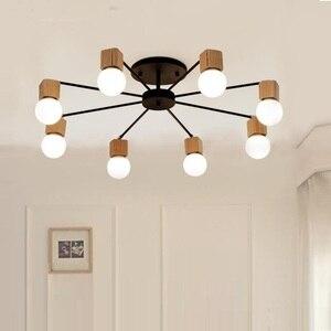 Image 1 - الحديثة الرجعية الثريا للمطبخ غرفة نوم معلقة الثريات الحديد العتيقة النمط الأمريكي الحديد المطاوع مصباح LED الحديثة الرجعية