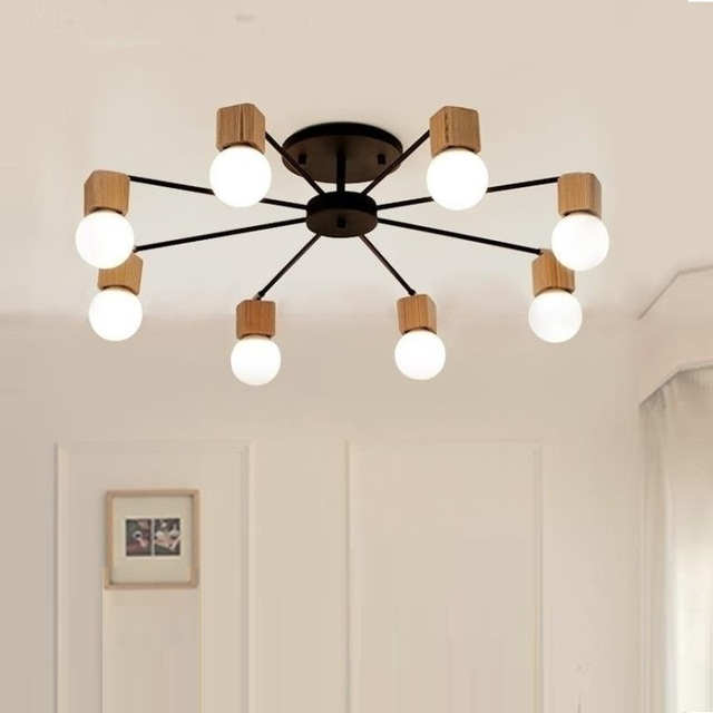 الحديثة الرجعية الثريا للمطبخ غرفة نوم معلقة الثريات الحديد العتيقة النمط الأمريكي الحديد المطاوع مصباح LED الحديثة الرجعية