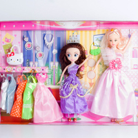 Doll Clothes Party Gown Outfits with 10 Pairs Doll Shoes for Girl's Birthday Christmas Gift