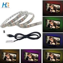 USB led strip smd 5050 rgb IP20 IP65 waterproof DC 5V 1m 50cm TV Background Light RGB Flexible Lighting Adhesive Tape 30LED/m