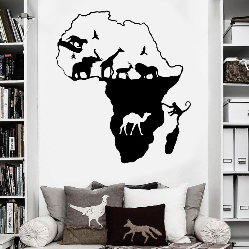 African Safari Home Decor: African Safari Wall Sticker Home Decor For Living Room