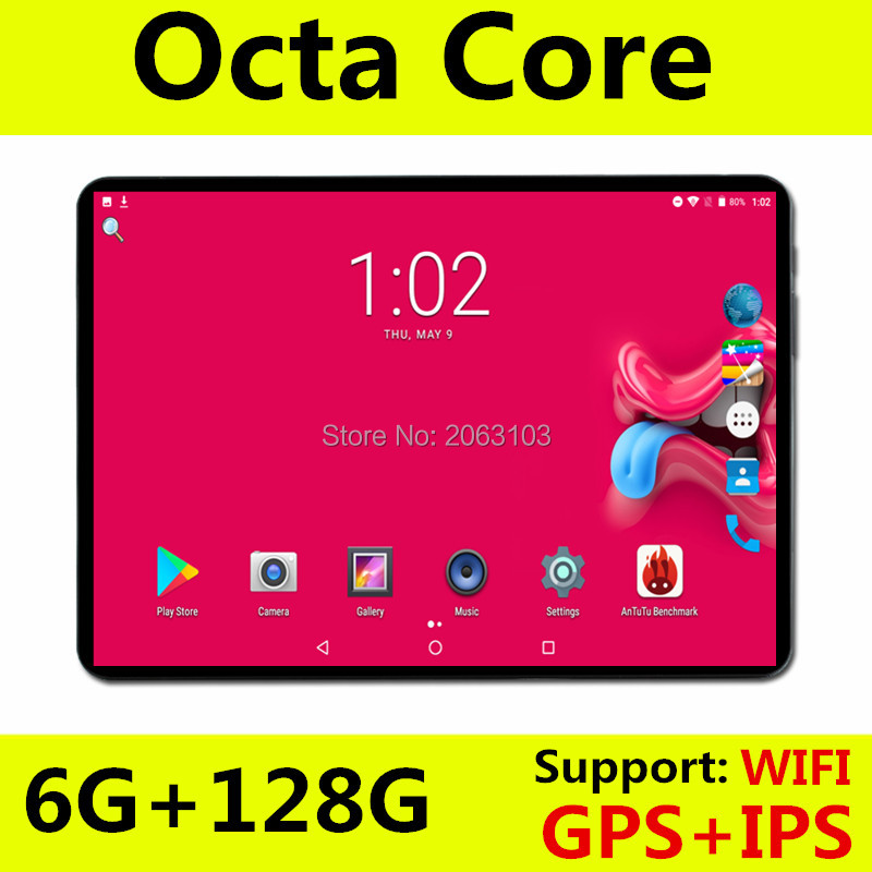 BOBARRY S106 10.1' Tablets Android8.0 Octa Core Ram 6GB ROM 128GB Dual Camera 8MP Dual SIM Tablet PC Wifi GPS bluetooth phone image