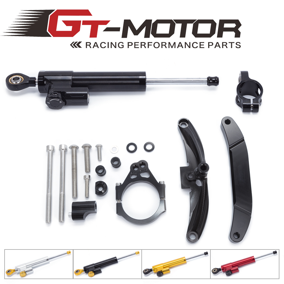 GT Motor FREE SHIPPING For Yamaha FZ1 FAZER 2006 2015 Motorcycle Aluminium Steering Stabilizer Damper Mounting Bracket Kit