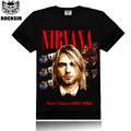 2017 man's designer brand new short-sleeve NIRVANA t shirts fashion cotton casual T-shirt size M-4XL Women tshirt