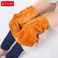 Alpaca Cashmere Ultra Soft Women Jeans Large Size Women Warm Elasticity Elastic Waist Jeans Slim Thicken