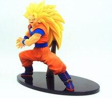Dragon Ball Z DBZ FES VOL.3 Fighting Red God Son Goku and SSJ3 Son Goku PVC Toys Figure