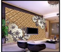 3D תמונת טפט קיר 3d המותאם אישית ציורי קיר טפט טלוויזיה ציור סלון קישוט קישוט אריזות גמיש אחיד בצבע חום