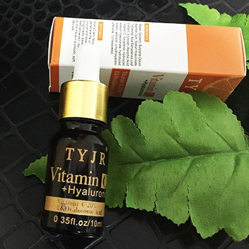 100% Pure Vitamin C Serum Liquid Freckle Removal Acne Scars Hyaluronic Acid