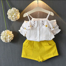 2019 Stylish Toddler Kids Baby Girls Off Shoulder Tops Shorts Pants 2Pcs Set Clothes