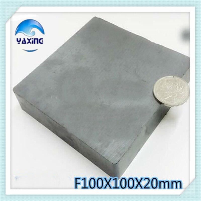 1PCS Blk100x100x20mm Magnet Ferrite Whole Sales Brand New Ferrite Magnet 100*100*20mm100mm*100mm*20mm недорго, оригинальная цена