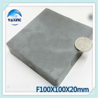 1PCS Blk100x100x20mm Magnet Ferrite Whole Sales Brand New Ferrite Magnet 100*100*20mm100mm*100mm*20mm