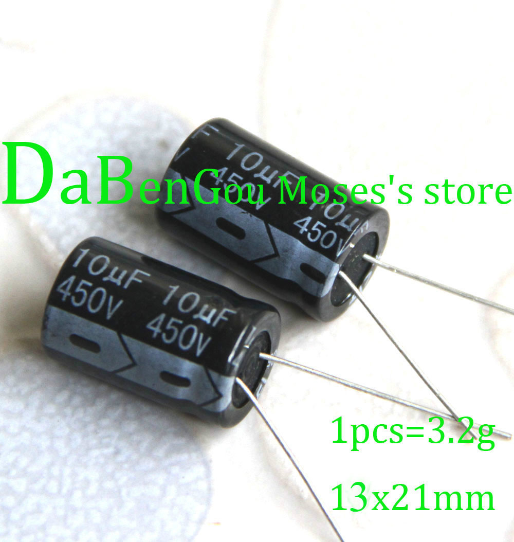 450v 10uf Electrolytic Capacitor Radial Capacitance 13x21mm 200pcs -in Cushion Cover Home