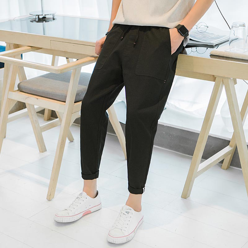 New Design Casual Men Pants Cotton Slim Spring Summer Casual Pants Men Cotton Slim Fit Chinos Fashion Trousers Male  Clothing