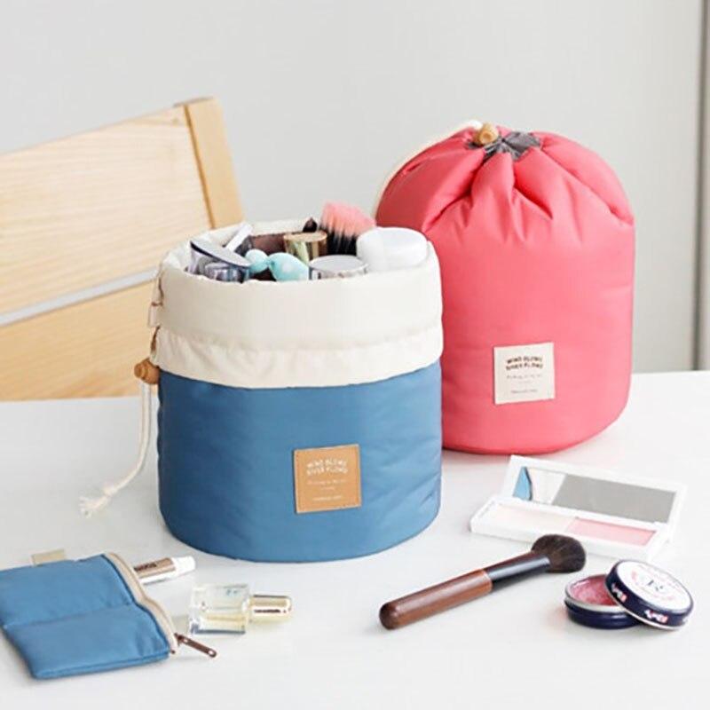 Kiváló minőségű hordó alakú utazási kozmetikai táska nylon - Szervezés és tárolás