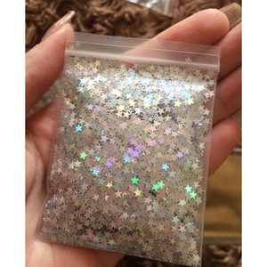 Image 1 - 10 Grams Star Confetti 3MM Laser Holographic Silver Stars Glitter Sequins Confetti for Wedding Party Supplies & Nail Art (1 Bag)