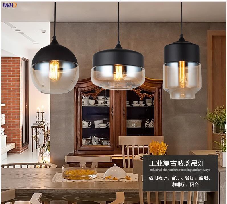 Iwhd loft decoração industrial edison luzes pingente
