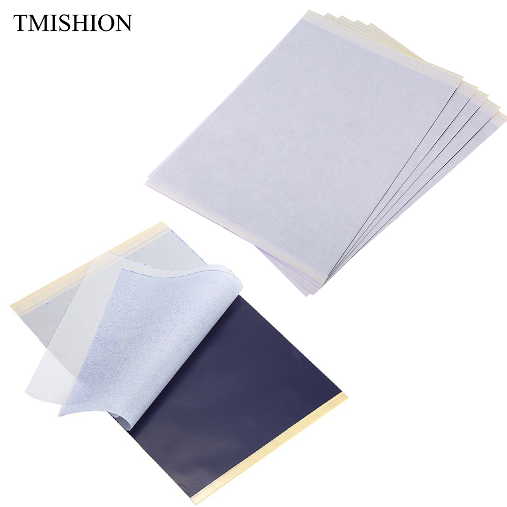 5pcs 4 Layers Professional Tattoo Paper A4 Thermal Stencil Transfer Carbon Copier Tattoo Accessories Copy Paper Tracing Supplies art paper