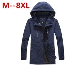 9XL 8XL 7XL 6XL 5XL Ali men's spring jacket coat High Quality outwear Windbreaker warm Thin cotton-padded jackets men parka
