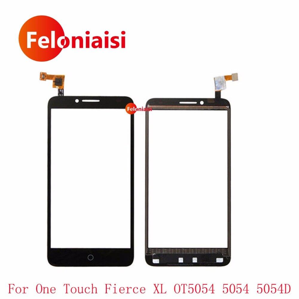 5.5 Pour Alcatel One Touch Féroce XL OT5054 5054 5054D Écran Tactile Digitizer Capteur Avant Lentille En Verre Panneau + Code de suivi