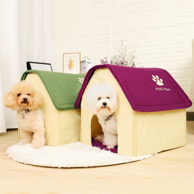 HOT!! Dog Bed Cama Para Cachorro Soft Dog House Blanket Option Pet Cat Dog Home Shape 2 Colors Red/Green Puppy Kennel Soft