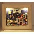 DIY Кукольный Дом Деревянные Дома Куклы Миниатюрный кукольный домик Мебель Комплект Симпатичный Номер DIY Подарок рамка для фото