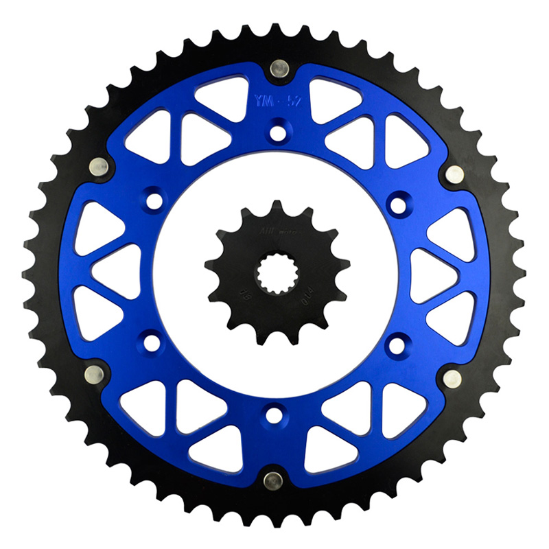 ФОТО Motorcycle Parts 52-13 T Front & Rear Sprockets Kit for YAMAHA WR125 WR 125 1999-2003 YZ125 YZ 125 1999-2004 Gear Fit 520 Chain