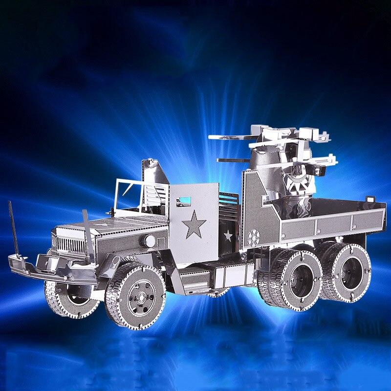 Model Kits 3D Metal Puzzle Military Motor Lorry Truck Model Kits DIY 3D Laser Cut Assemble Building Jigsaw Toys Gift Model Kit