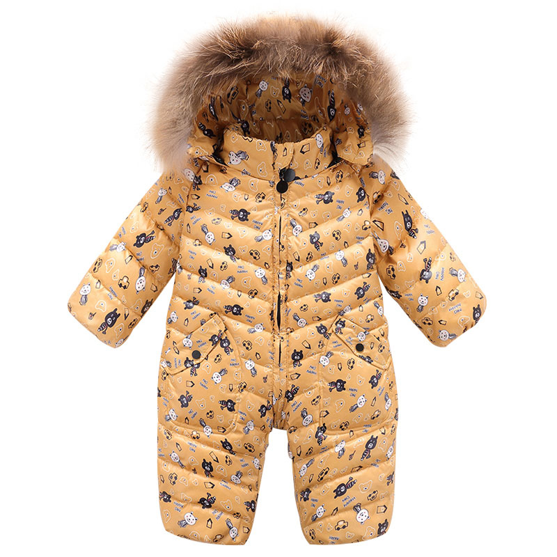 cce7ff669 Winter Baby Rompers Snowwear Toddler Clothing Sets Christmas Newborn Clothes  Boys Snow Coat for Girls