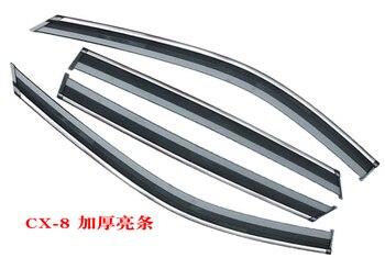 Wysokiej Jakości ABS Samochodów Okno Deszcz Tarcza Schroniska Pokrywa Osłona Przeciwsłoneczna Dla Mazda Cx-8 Cx8 2019 Samochodów Stylizacji