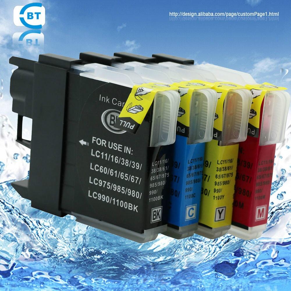 Fishekë boje kompatibil 4PK vëllai lc61 për printer DCP-145C / 165C / 185C / 6690CN / 6690CW MFC-250C / 290C / 490CN / 490CW
